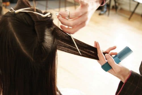 cutting your own hair short