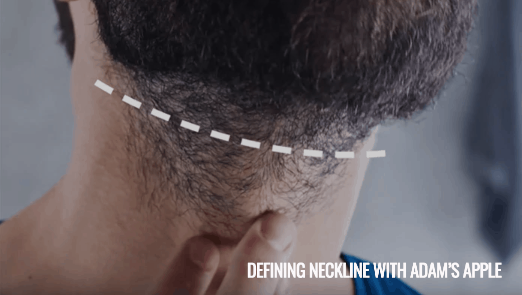 Defining neckline with Adam's Apple