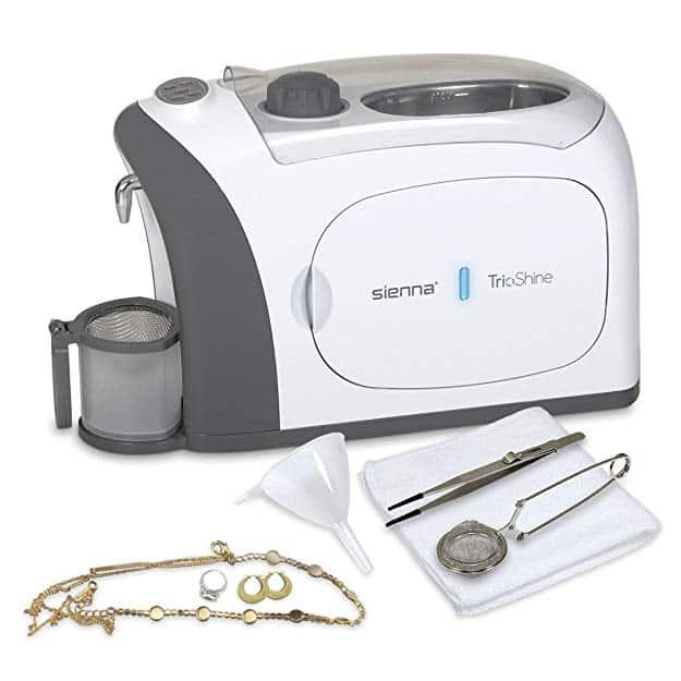 Sienna TrioShine 3 in 1 Ultrasonic Jewelry Cleaner Machine: