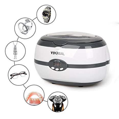 Vivreal Home Ultrasonic Jewelry Cleaner Machine Denture VGT-2000
