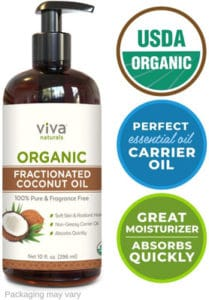 Viva Naturals Organic Fractionated Coconut Oil