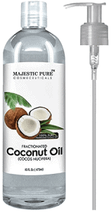 Majestic Pure Fractionated Coconut Oil with 16 Ounce